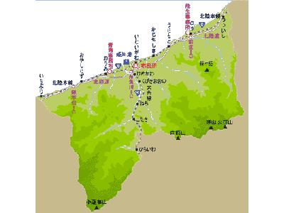 糸魚川市概略図